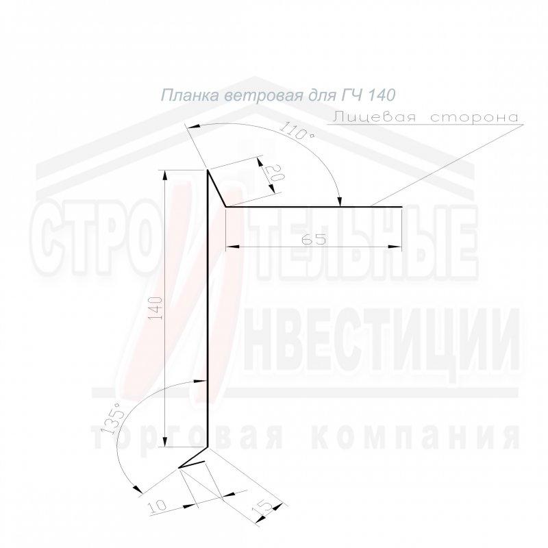 Планка ветровая для ГЧ 140