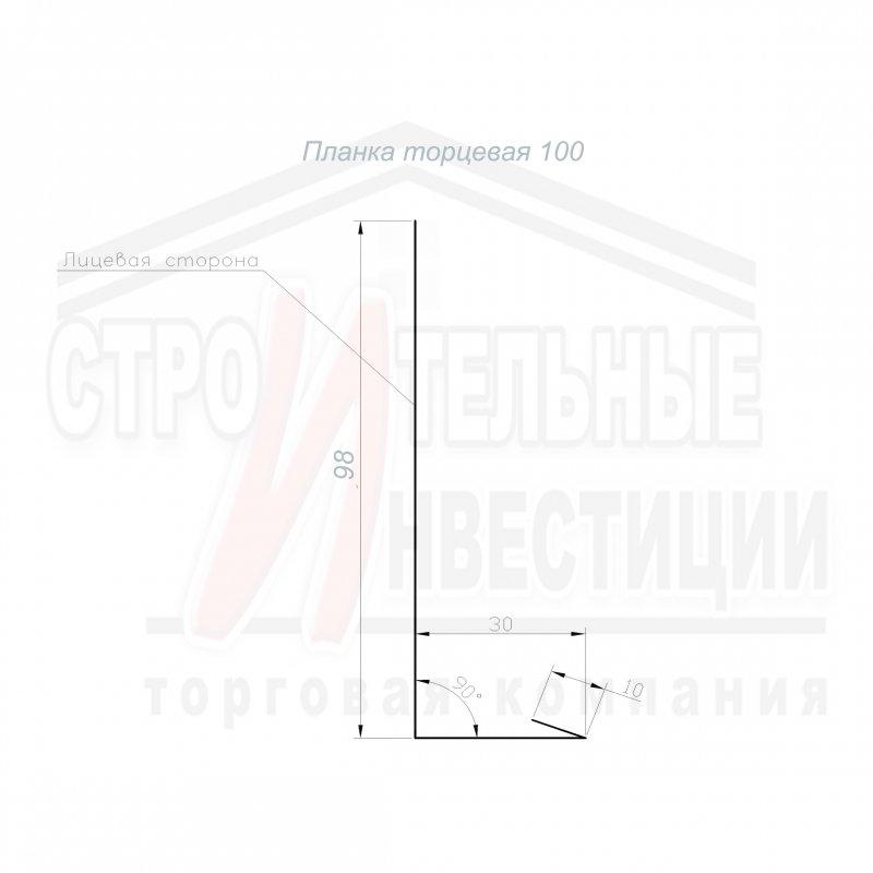 Планка торцевая 100