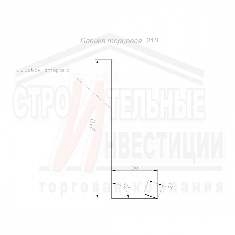 Планка торцевая 210
